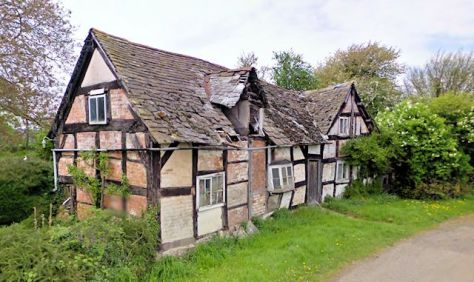 Tumbledown Cottage, Willersley (Google StreetView 2009)