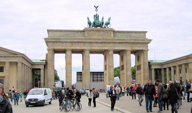 The Brandenburg Gate, Berlin, Germany: 24th May 2013