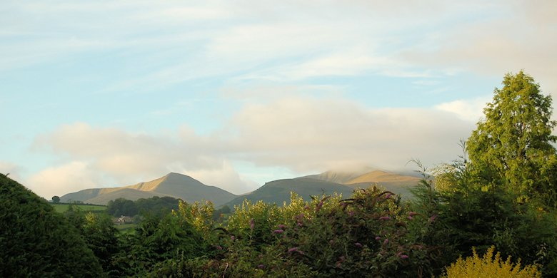 The sunlit Brecon Beacons on the morning of the 20th September 2013