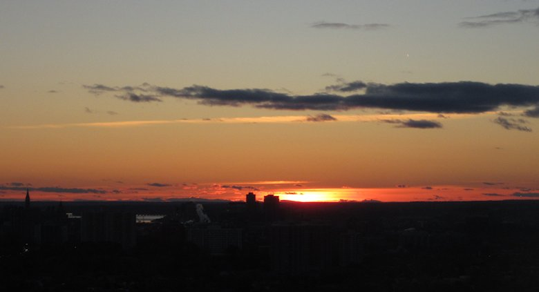 Sunset over Ottawa: 25th October 2013