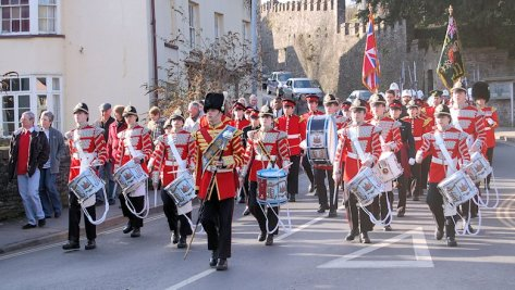 Military parade down Priory Hill (February 2009).